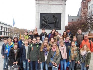 Gutenberg und Goldene Leslie – Besuch der 7A in Mainz