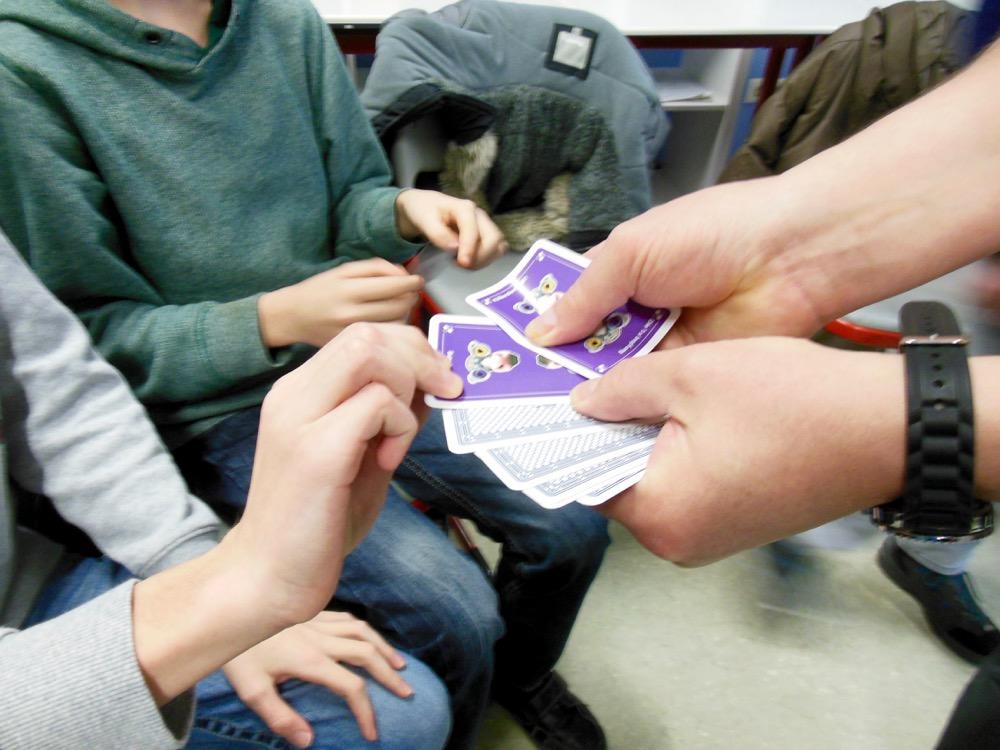 Auslosen der Gruppenmitglieder mit Hilfe von Karten