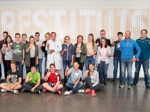 """Schulsanitätsdienst unserer Schule erfolgreich beim Wettbewerb der Stiftung """"Mainzer Herz"""""""