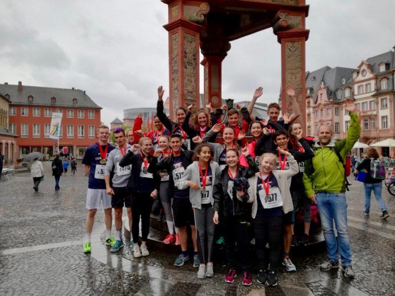 Unsere Schule beim Schülerhalbmarathon 2017 in Mainz mit dabei